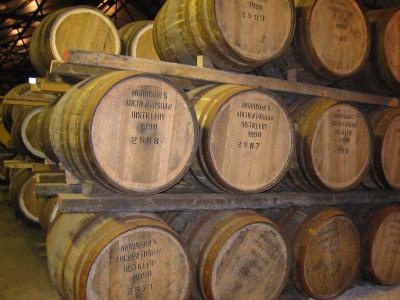 Aging in wooden-casks in Auchentoshan Distillery, Scotland, photo by Nicor