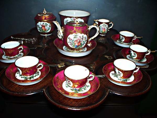 18th century English Chelsea Tea Set photo by Forever Wiser